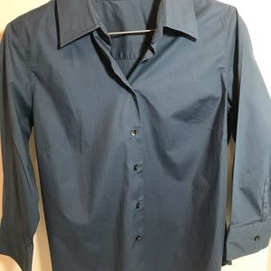 J crew Long Sleeved Button Up Shirt Medium Blue